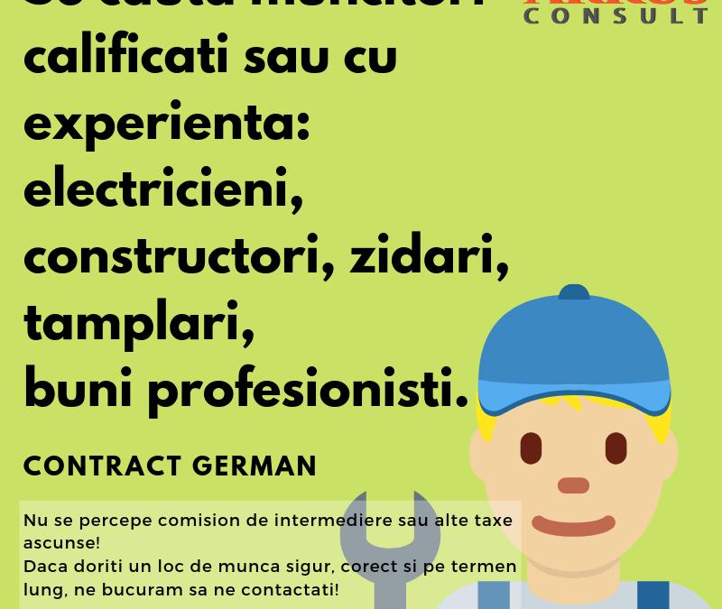 Joburi Muncitori Calificati Germania